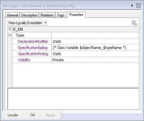 class variable properties